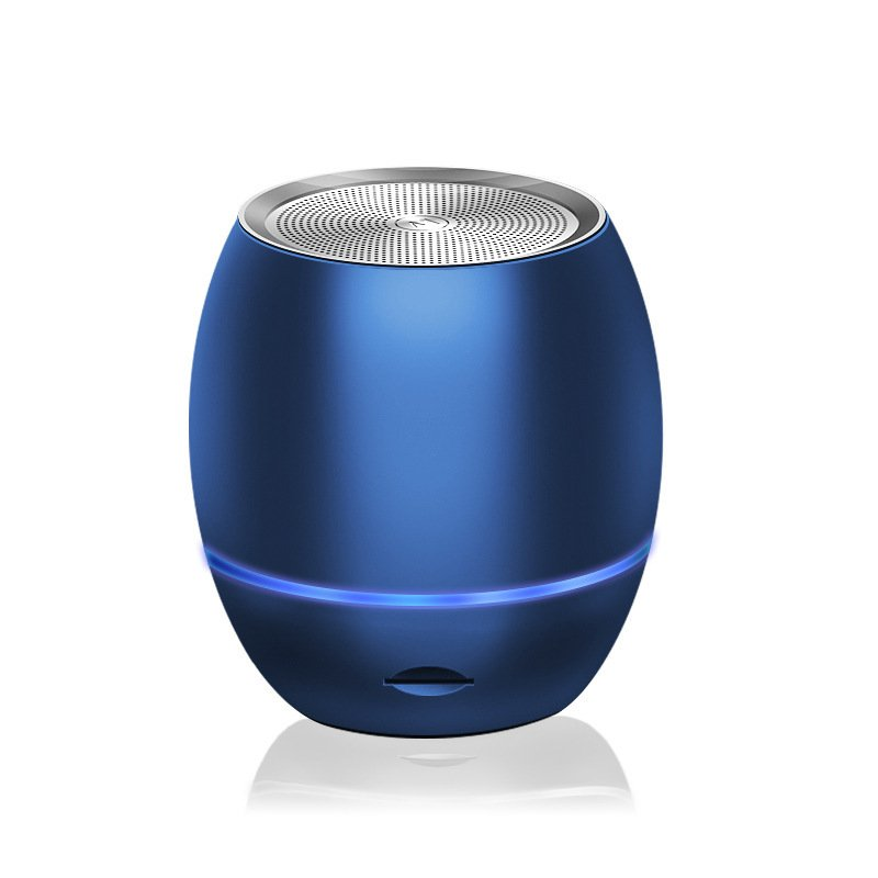 Bluetooth Speakers AI Smart Portable Bass Plug-in Card Wireless Speaker blue