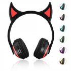 Bluetooth Stereo Cat Ear Headphones Flashing Glowing Cat Ear Headphones Gaming Headset Earphone with 7 Colors LED Light