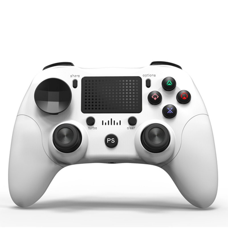 Bluetooth Wireless Joystick for Sony PS4 Gamepads Controller white