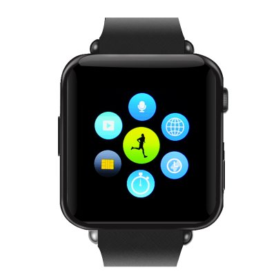 Bluetooth Mobile Phone Watch  (Black)