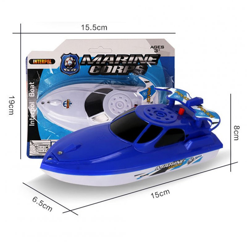 Boat Ship Model Toy Float in Water Summer Shower Bath Toys for Children Boys Gifts blue