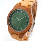 Bobobird Japan 2035 quartz watch bamboo wood sports watch green surface on chinavasion com with wholesale price