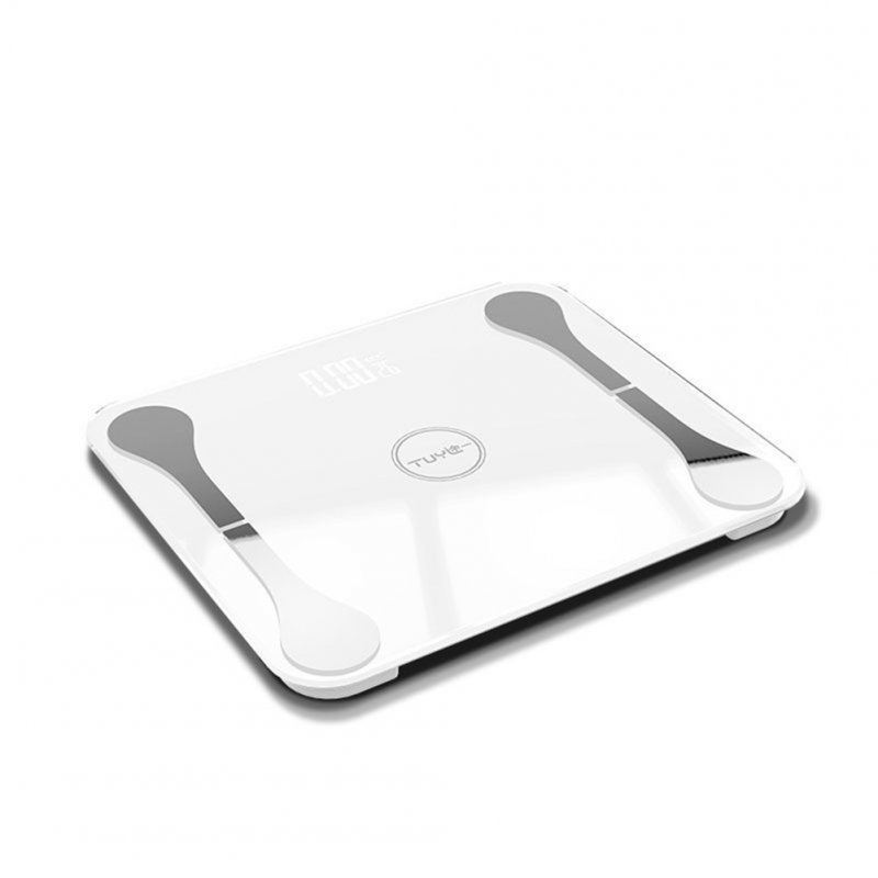Body Fat Scale Light Energy Charging APP Bluetooth Intelligent Electronic Balance Scale Health Scale 6011 30 * 26cm white_USB charging