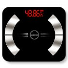 Body Fat Scale Multi-fonction Electronic Scale APP Bluetooth Smart Weighing Scale Fat test 6031-30 * 26  fan-shaped black_Charging type
