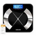 Body Weight Scale Bluetooth Smart Electronic LED Digital Floor Body Fat Weight Scale black_Battery