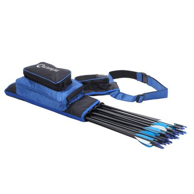 4 Tube Waist Carrying Quiver Bag - Blue