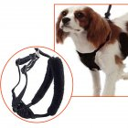 Breathable Anti-Pull Dog Chest Leash Black M