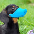Breathable Dog Mouth Muffle Mouth Mask Prevent Biting Barking Eating Dirt Pet Supplies blue_S-small