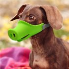 Breathable Dog Mouth Muffle Mouth Mask Prevent Biting Barking Eating Dirt Pet Supplies green_S-small