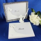 Bride and Groom White Wedding Guest Book