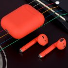 i12 TWS Bluetooth Earphone - Red