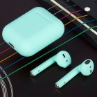 i12 TWS Bluetooth Earphone - Blue