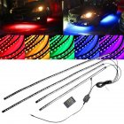 Bright Auto LED Strip Neon Car Bottom Lights Music Active Sound System Light Photo Color