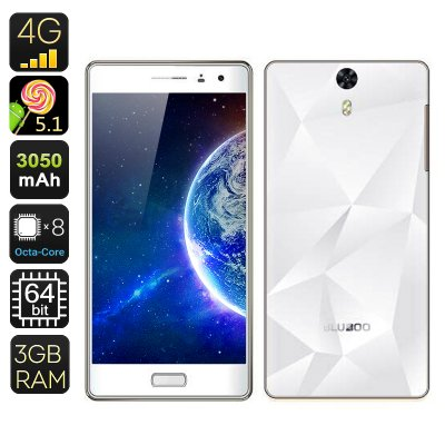 BLUBOO Xtouch 5 Inch Smartphone (White)