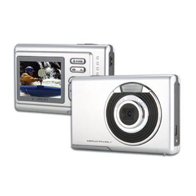 Digital Camera with Flash, 5.5M Pixel, LCD 2.0 inch, SD/MMC