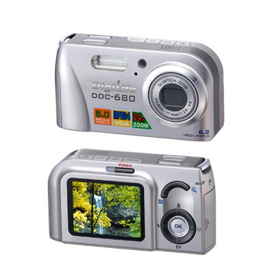 Digital Camera 8.0M Pixel CCD, Optical Zoom, 2.0-inch LCD