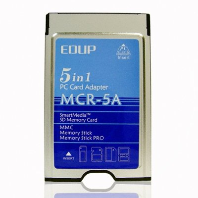 PCMCIA 5 In 1 PC Card Adapter