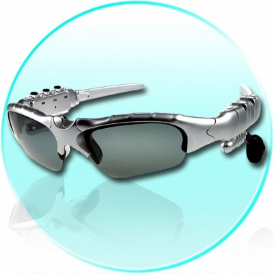 WMA + MP3 Player Sunglasses 512MB - Stereo Sound Effect