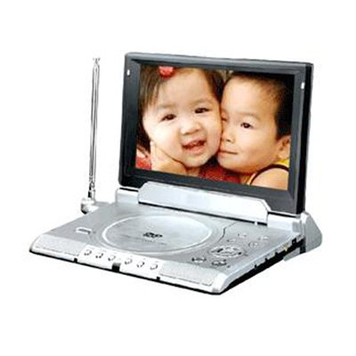 Portable DVD Player with TV, 8.4-inch (16:9) Screen, Card reader