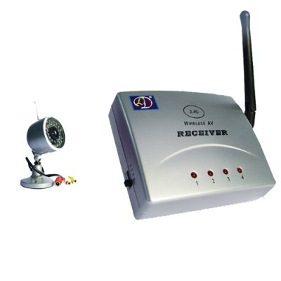 Mini Wireless Monitoring Video Camera and Receiver Set - NTSC