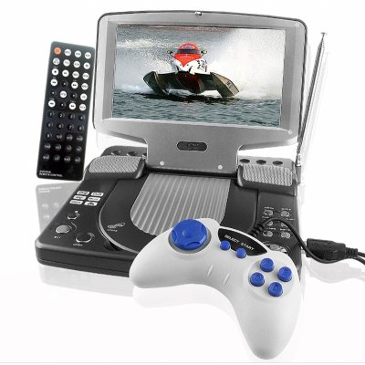 7-in TFT Portable MPEG4 DVD Player + DVB-T Digital TV
