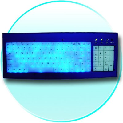 LED Blue Light Incoming Call Light-emitting Keyboard