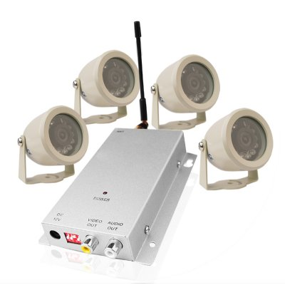 Wireless Surveillance Adjustable Mini Camera + AV Receiver