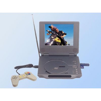 Portable 7-inch DVD TV Game Player -  USB Port + Card Reader