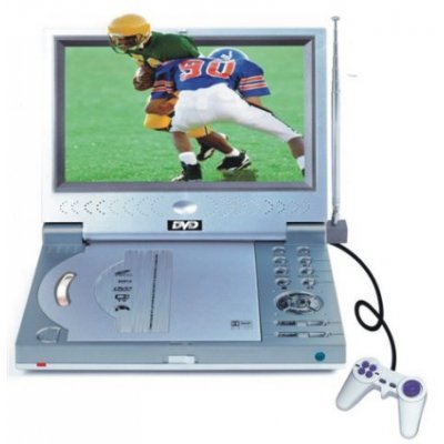 Portable DVD Player + Terrestrial TV Receiver - Plays DivX