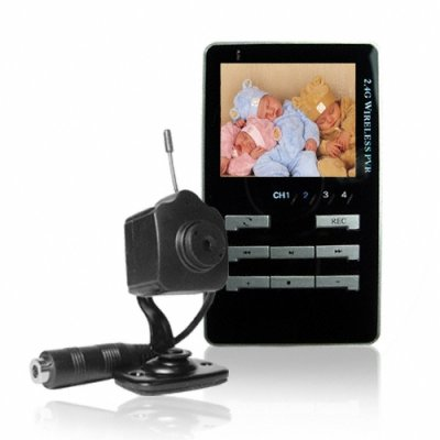 Wireless Baby Monitor Set - 1 2.4GHz Camera + MP4 Receiver