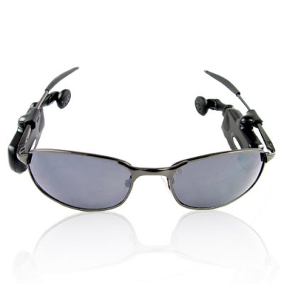 Sunglasses with 256MB MP3 Player and bluetooth Headset clip-on
