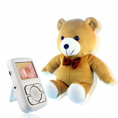 Wireless 2.4GHz Baby Monitor Set -  Cuddly Bear Shaped Camera