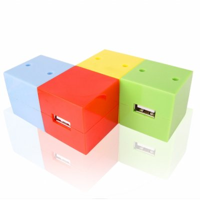 Wholesale 3 Port USB Hub + Bluetooth Dongle - Rubix Cube Design From