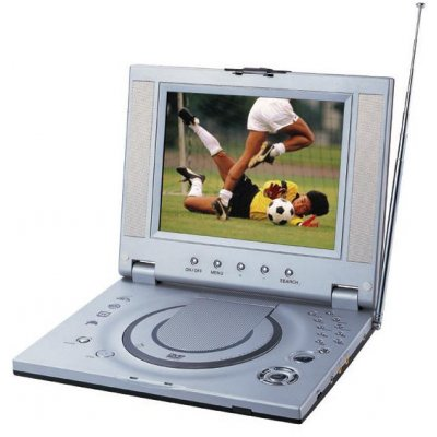 Travel Sized Portable DVD Player - NES Games + TV Tuner