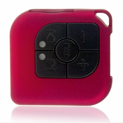 Pocket MP3 Player + Flash Memory Card Reader (Metallic Red)