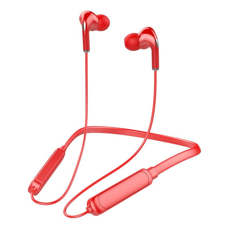 Bt-71 Neck-mounted Bluetooth 5.0 In-ear Wireless  Sports Headphones red