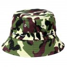 Bucket Hats Men Outdoor Fisherman Hat Cotton Fishing Cap Camouflage Bucket Caps dark brown adjustable