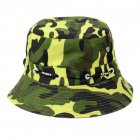 Bucket Hats Men Outdoor Fisherman Hat Cotton Fishing Cap Camouflage Bucket Caps ArmyGreen_adjustable