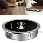 Built in Desktop Device Fast Wireless Charger 15W Quick Charger 3.0 Embedded Type C Charger 15W
