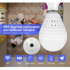 Bulb Lamp Wifi IP Night Vision Camera