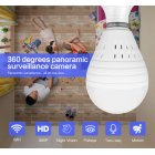 Bulb Lamp Wireless IP Camera Wifi 960P Panoramic FishEye Home Security CCTV Camera  1 3 million single light source white light