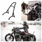 Burly Short Sissy Bar Backrest for  48 Sportster 1200 883 72 04-16 black