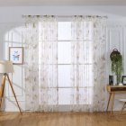 Butterfly Print Sheer Window Curtains Room Decor for Living Room Bedroom Kitchen W 100cm   H 200cm