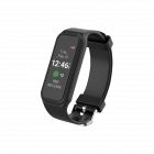1.06 inch Touch Screen Fitness Black Bracelet