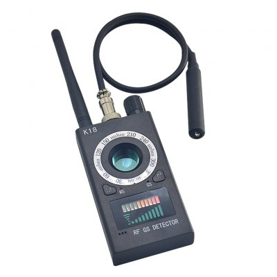 RF Signal Detector Bug Anti-spy Detector Camera GSM Audio Finder GPS  Scanner (EU Plug)