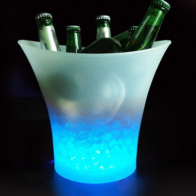 5L Glowing LED Ice Bucket with Blue Light