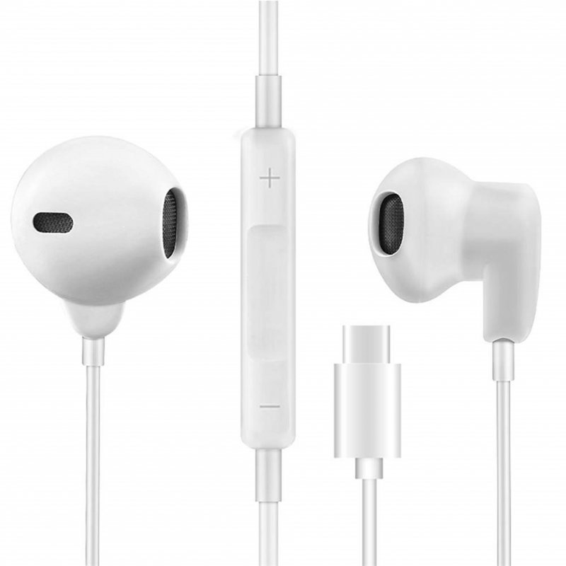 C Earbuds Headphones in-Ear Noise Cancelling Earphones for Hammer Nut pro/pro2/pro2s/pro3/m1s white