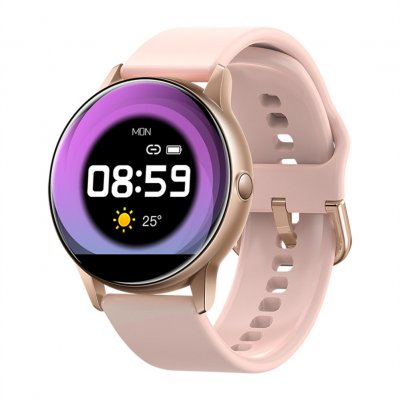 C009 Smart Bracelet Silicone Round Full-Screen Touch Heart Rate Sleep Health Monitoring Sports Smart Watch Pink siliocne