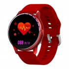 C009 <span style='color:#F7840C'>Smart</span> Bracelet Silicone Round Full-Screen Touch Heart Rate Sleep Health Monitoring Sports <span style='color:#F7840C'>Smart</span> <span style='color:#F7840C'>Watch</span> Red silicone