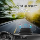 C1 HD Color LCD Display Car HUD Head Up Display OBD2 + GPS Head Display black